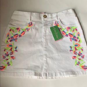 Lilly Pulitzer Skirts - Lily Pulitzer, White, Salli Skirt, Size 4, NWT